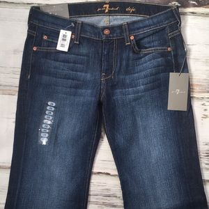 7 For All Mankind Dojo Flare Leg Denim Jeans 28